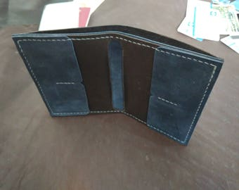Leather purse. Leather billfold. Leather wallet