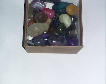 40 piece tumbled crystal set