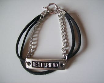 """Black and silver """"best friends""""."""