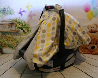 Polka Dot Car Seat Canopy