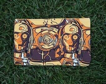 C3PO star wars droid print large make up bag