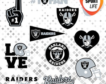 Oakland Raiders clipart, sport clipart, sport silhouettes, sport logos, svg, dxf, png, jpg and eps files 15
