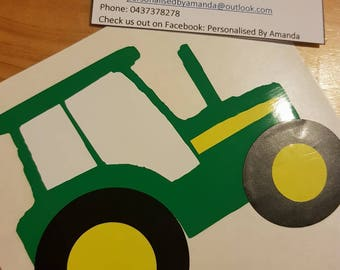 Tractor decal