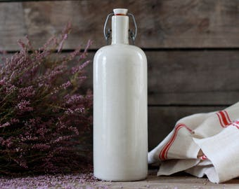 French antique hot water bottle 19's. Antique pitcher. French pots. Antique pot. French sandstone. Vintage jug. French carafe. Antique vase