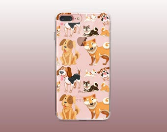 Dogs Clear TPU Phone Case for iPhone 8- iPhone 8 Plus - iPhone X - iPhone 7 Plus-iPhone 7-iPhone 6-iPhone 6S-Samsung S8