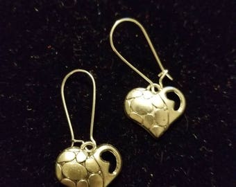 Boutique...Order Now for Valentine... Silver Alloy Heart Earrings