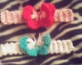 Crocheted butterfly bracelets