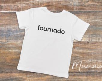 Fournado, Fourth Birthday, Four, Custom Children's T-Shirt