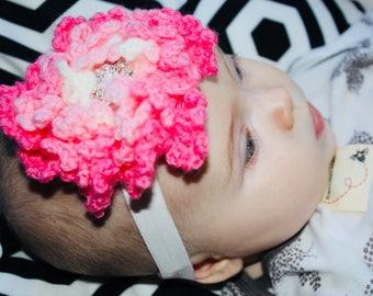 Headband newborn baby knitted flower