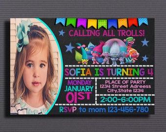 Trolls, Trolls Birthday, Trolls Invitation, Trolls Card, Trolls Party, Trolls Girl, Trolls Birthday Invitation, Digital Invitation