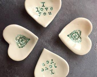 Beautiful Ceramic Love Heart Dish