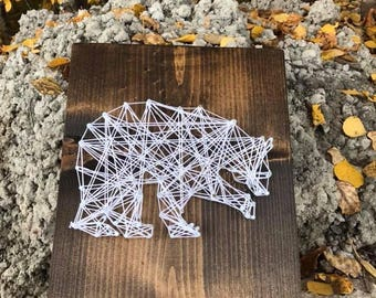 Bear Silhouette String Art