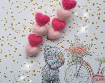 Kawaii fluffy pink decoden handmade hairpins