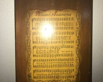 Blessed Assurance Wood Wall Art