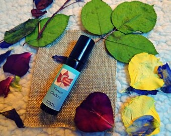 Throat Chakra Anointment Oil- Essential Oil Blend- Roller Ball