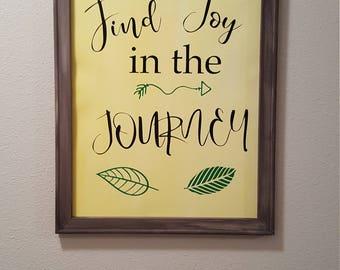 Joy in the journey wall art.
