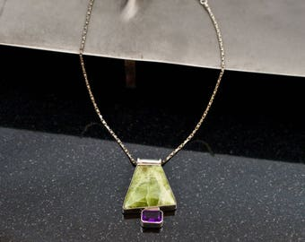 Morning Mist Amethyst 925 Silver Necklace