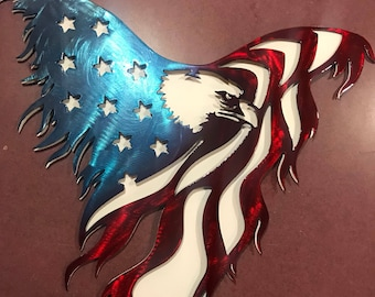 3D ARMY STRONG EAGLE metal art