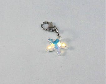 Clear Crystal Starfish planner charm