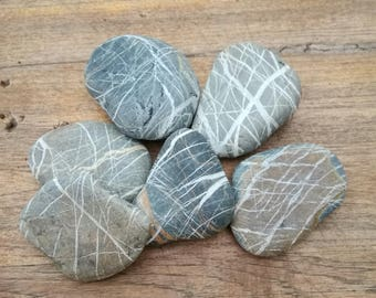 Wishing stones, stripe stones, sea stones