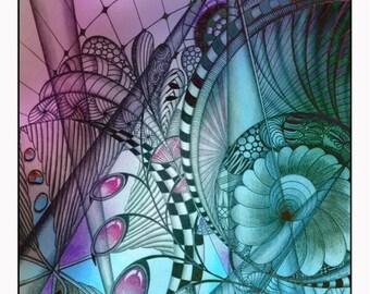 Abstract zentangle art