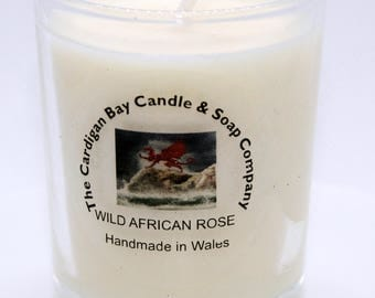 Luxury Soy Wax Votive Candle Wild African Rose