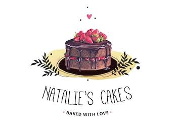 Bakery Logo - Baking Logo - Cake Logo - Bakers Logo - Chocolate Logo - Catering Logo - Patisserie logo - Premade logo - Food blog logo