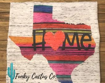 Texas Home Marble Tshirt