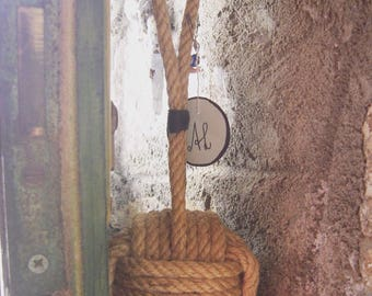 Hanger/jewellery from hemp, handmade