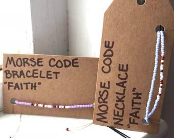 Faith Morse Code Jewelry