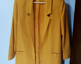 Vintage yellow blazer