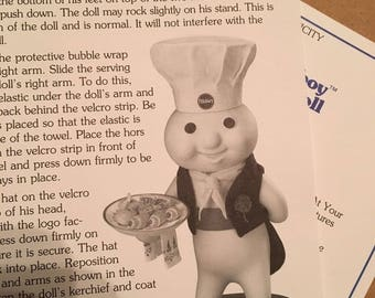 Pillsbury Doughboy Figurine - AT Your Service - The Danbury Mint - 1999 New in Box