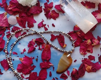 """22"""" Beaded Agate Necklaces"""