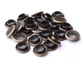 100set Eyelet grommet 14mm*7.5mm*4mm(OD * ID * Height) Mesh Grommets Metal eyelets Brass Eyelet Grommets with washer