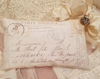 Antique postcard sachet