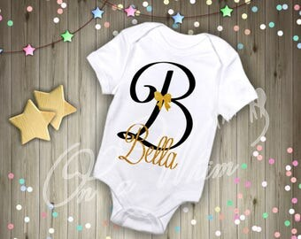Custom Baby Onesie / Personalized / initial / name