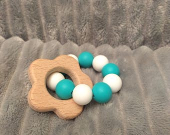 Silicone Wood Teething Ring