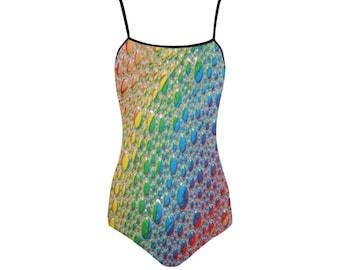 Rainbow Drops Swimsuit- Women (5 colors)