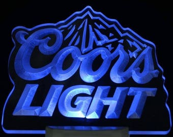 Coors light sign etsy coors light bar beer decor day night sensor led night light sign aloadofball Images