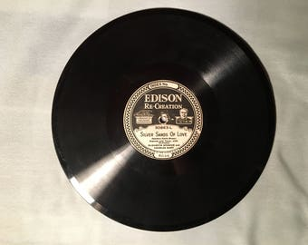 Edison Diamond Disc Record - Edison Re-Creation - Silver Sands of Love / With All of Her Faults I Love Her Still