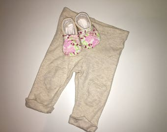 Floral Pink Baby Shoes