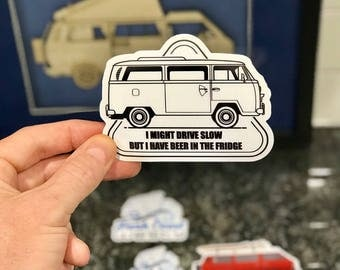 But I have beer! VW Bus T2 Sticker