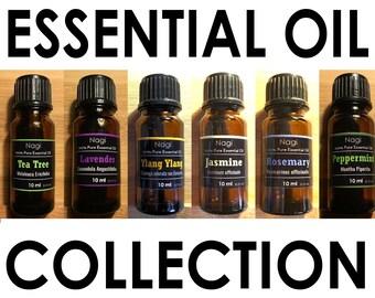 Essential Oils Set of 6 Teatree,Lavender,Ylang Ylang,Jasmine,Rosemary,Peppermint Great Gift