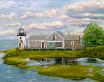 Hyannisport, Cape Cod Lighthouse in Pastels