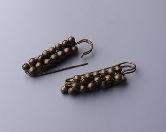jumbo safety pins large bronze safety pins 2pcs 71*7mm metal safety pins with iron beads