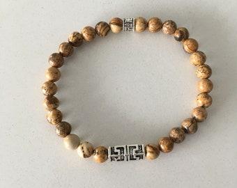 Bracelet made of Jasper 6 mm