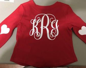 Valentine's Day Monogram shirt