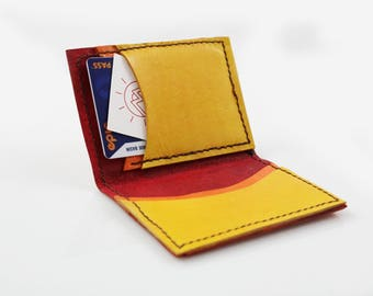 Fire-Inspired Leather Bifold Wallet