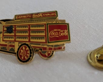 Vintage GMC truck Coca Cola tack pin. Reverse has Made in China @ 1986 The Coca-Cola Co.