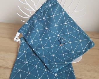 Door bracket Origami blue